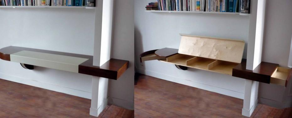 Bureau design suspendu atelier helbecque 94 ile de france - Bureau suspendu ...