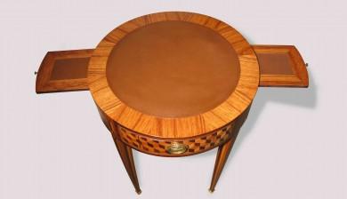table à jeux - cuir
