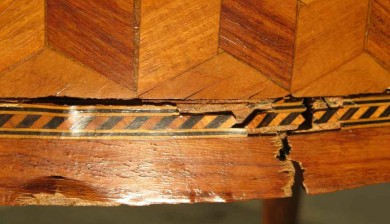 table à jeux - travail du bois