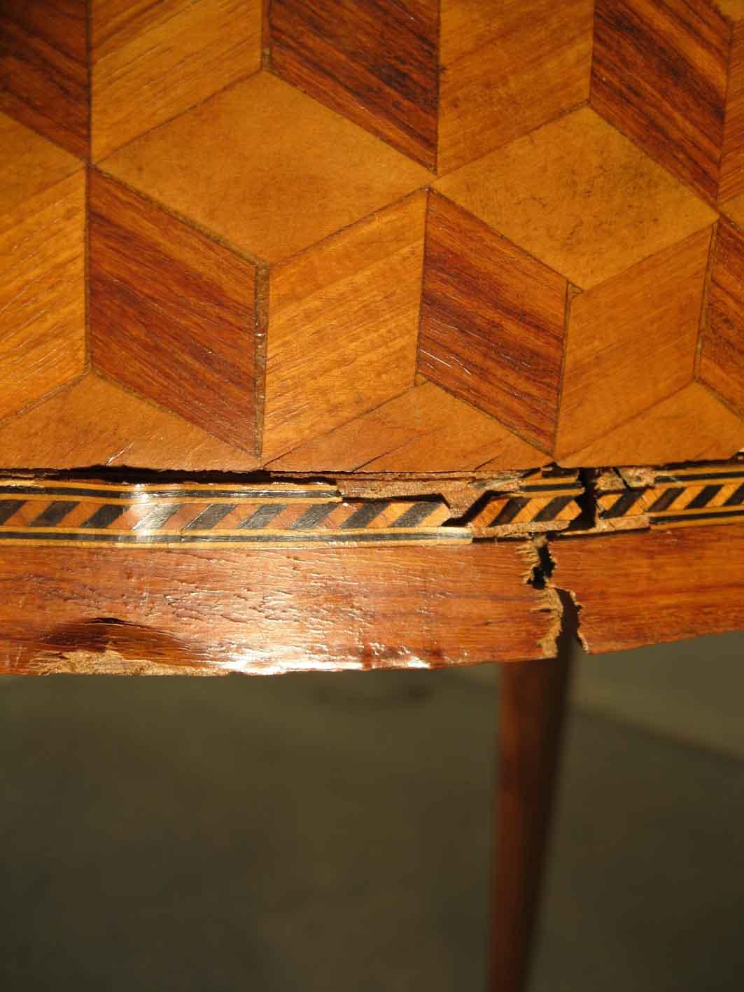 Eb niste d art restaurateur de meubles et de table jeux for Table travail bois