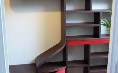 Couloir d'entrée - bibliothèque
