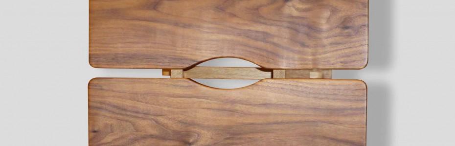 Tabouret Torii - noyer