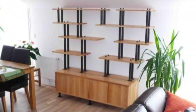 Bibliothèque modulable De Bois et d'Acier