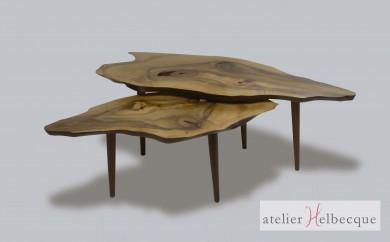 table basse Sur un plateau