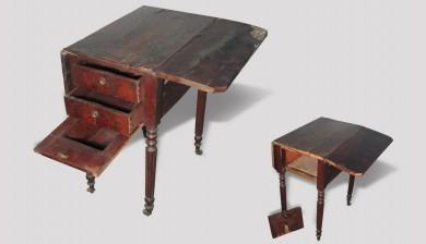Table à volets Louis Philippe - avant restauration