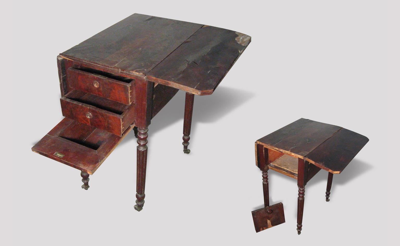 Table volets portfolio tag atelier helbecque 94 ile for Table louis philippe