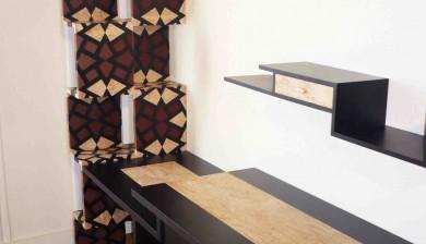 Bureau Art-Déco - étagère cache radiateur