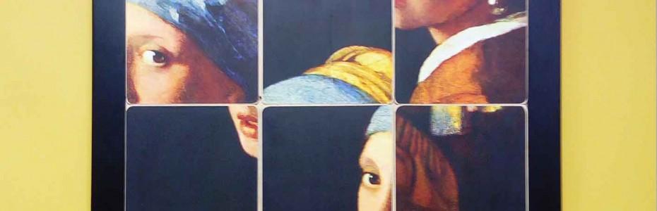 Mise au point technique puis fabrication en petite série de cadres avec carrés coulissants, habituellement appelés Taquins. Il s'agit d'une commande de l'artiste Benoît Dutour, qui vient collé sur les carrés une reproduction d'un tableau ou d'une photographie. Première série: 10 femmes célébrés à travers l'histoire (La jeune fille à la perle, Maryline, La Joconde, …). Deuxième série: 10 hommes célébrés à travers l'histoire (Van Gogh, ...)